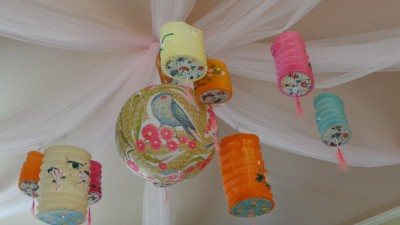All the lanterns on the ceiling