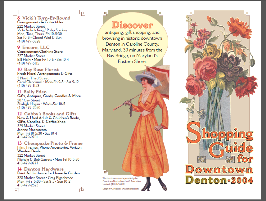 Downtown  Denton, Maryland Shopping Guide 2004 from Shalavee.com