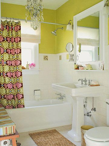 Amy Butler fabric shower curtain from Most Pinned Pinterest Pins of 2013 from Shalavee.com