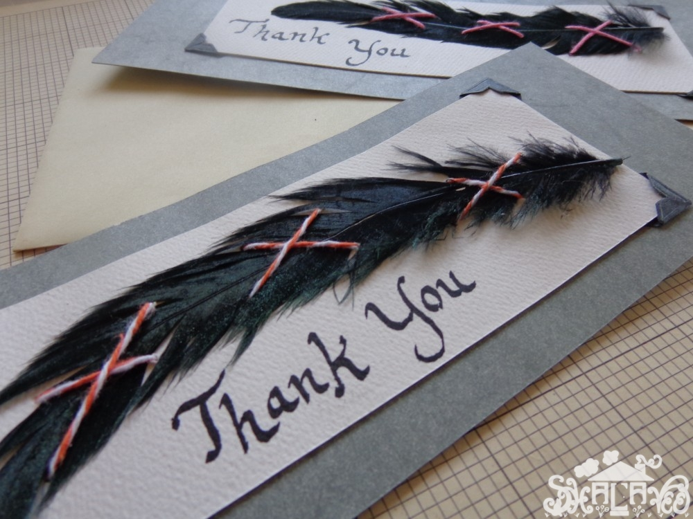Close up of thank you note from Write Me a Letter on Shalavee