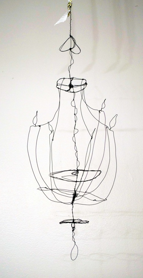 wirecreations2 wire chandelier by Emily Jeffords to illustrate  pet love on Shalavee.com