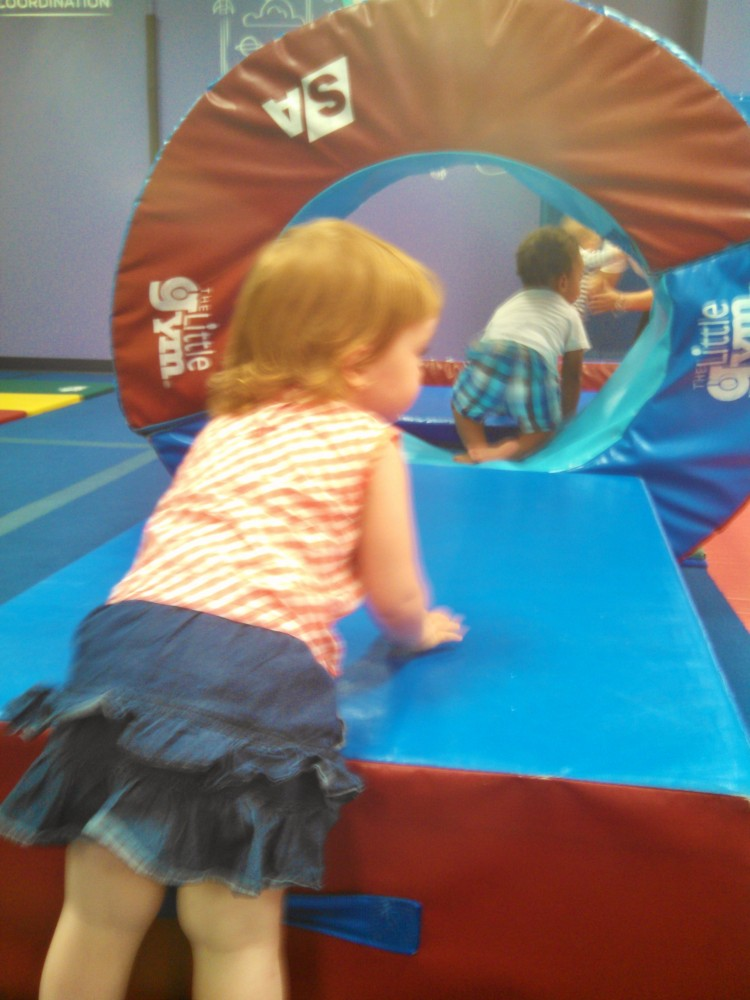 Fiona at the Little Gym Birthday party for Noah