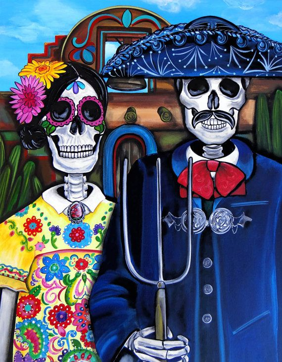 American Gothic Day of the Dead on Shalavee.com