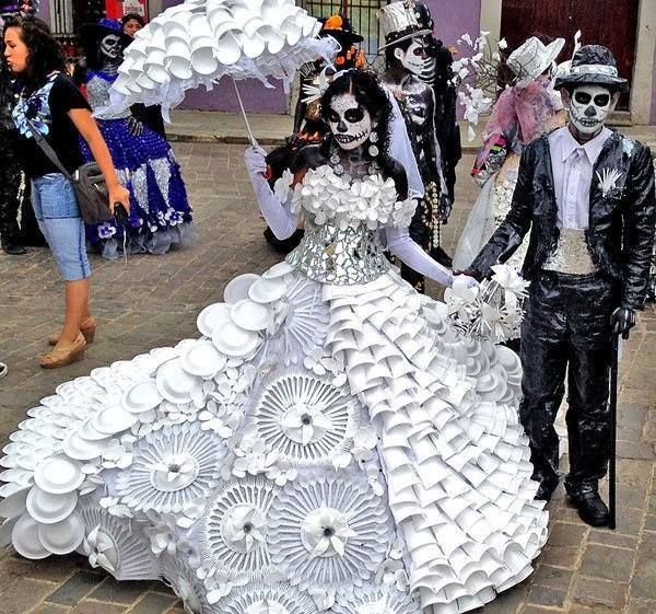 day of the dead recycling costume on Shalavee.com