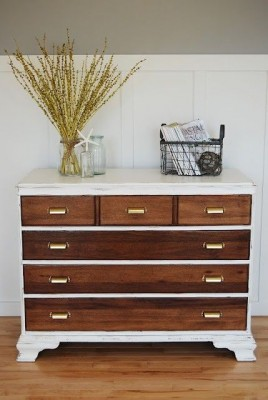 wood and white dresser from pinterest on Shalavee.com