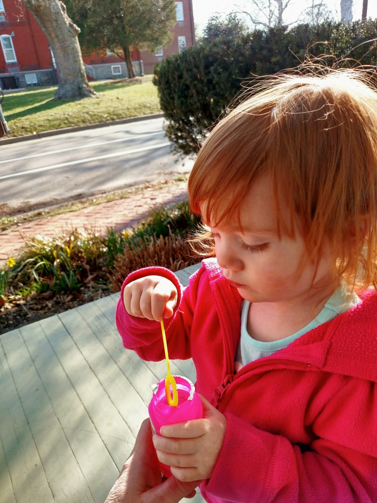 blowing bubbles on Shalavee.com