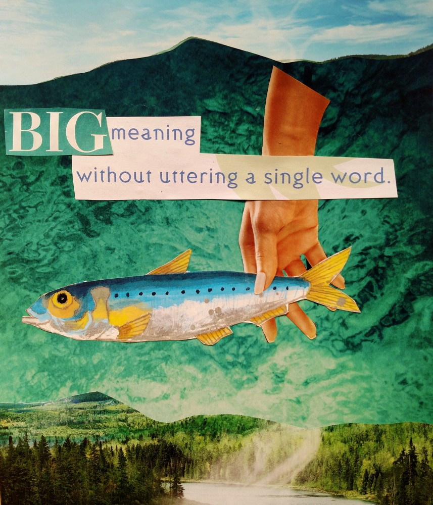 Day 2 of One Creative Week, Big ,paper collage by Shalagh Hogan on Shalavee.com