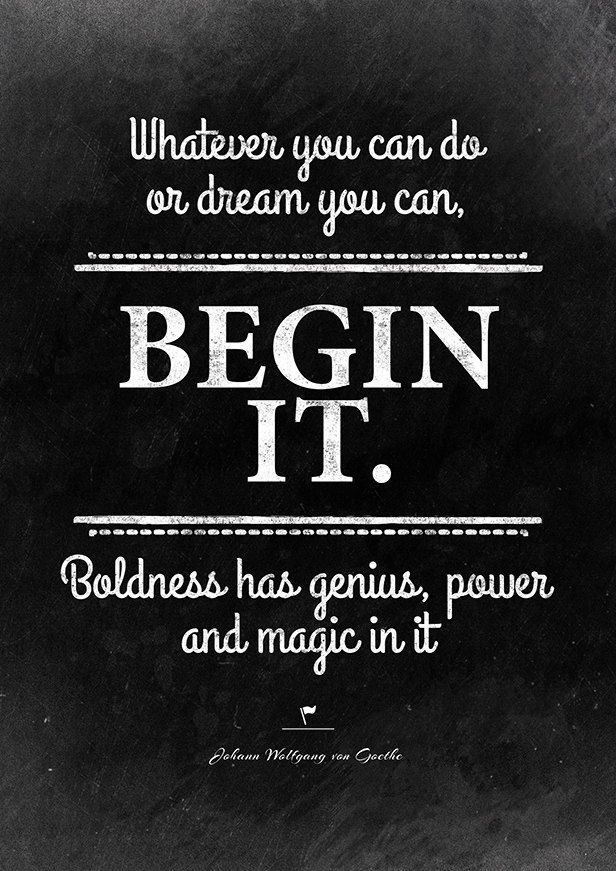 begin it quote by Goethe from Shalavee.com