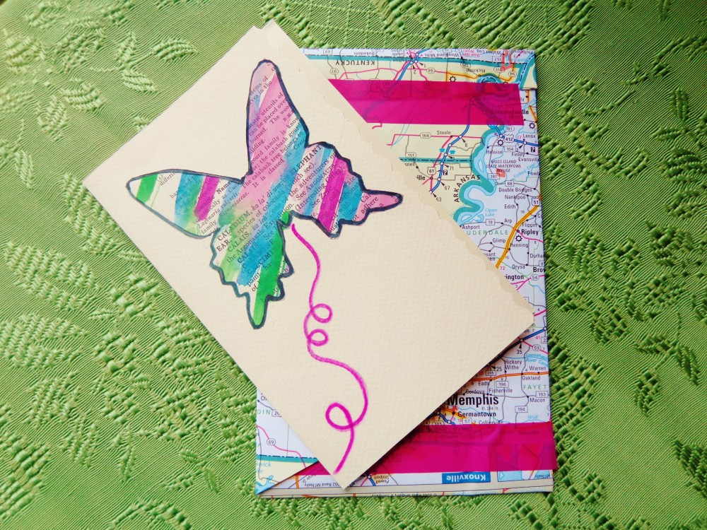 Shannon's butterfly card on Shalavee.com