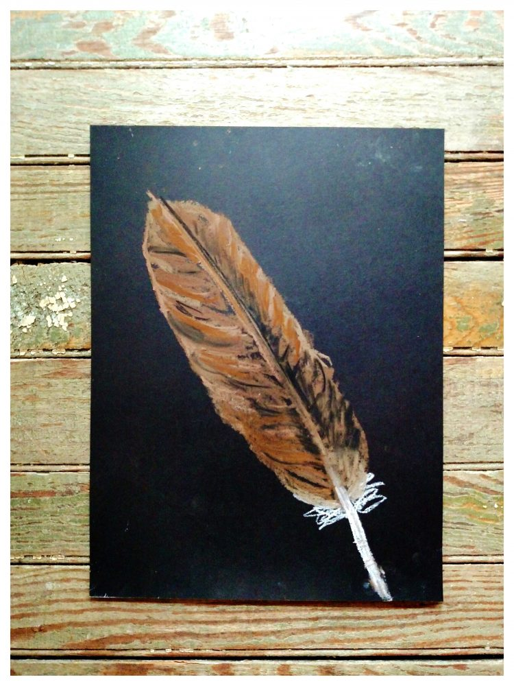 Pastel feather on week 3 of our creative September